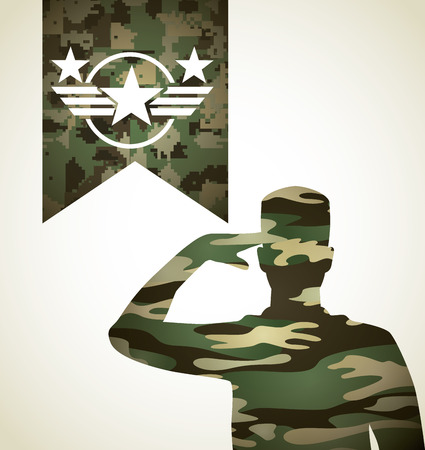 silhouette america: military emblem design, vector illustration
