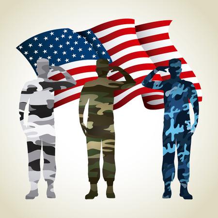 Militär Emblem Design, Vektor-Illustration