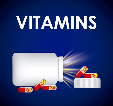 vitamins and supplements design, vector illustration