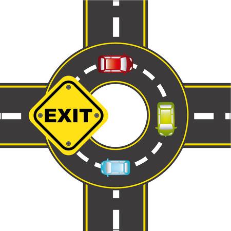 cars on road: road traffic design, vector illustration