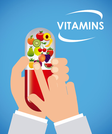 vitamins: vitamins and supplements design, vector illustration