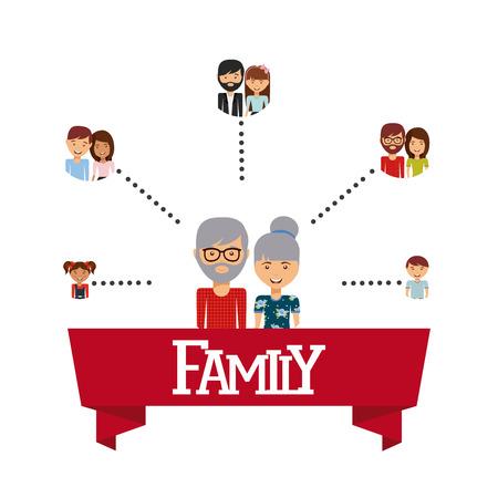 diseño del amor de la familia, ilustración vectorial