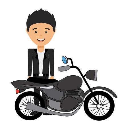 motorcyclist: man motorcyclist design, vector illustration