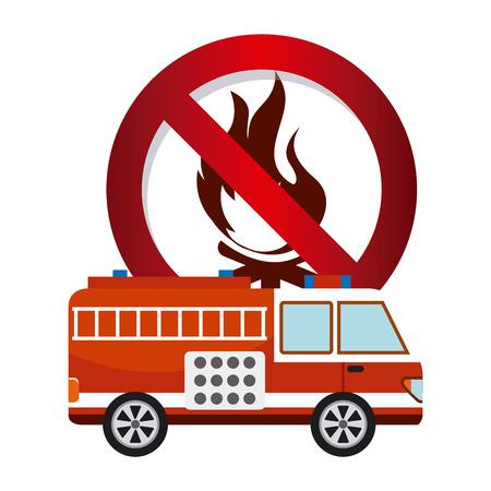 firetruck: firetruck signal design, vector illustration