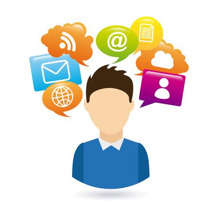 social media design, vector illustration