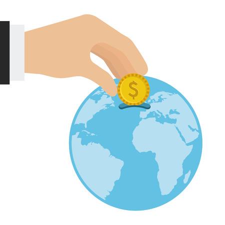 money sphere: saving concept design, vector illustration