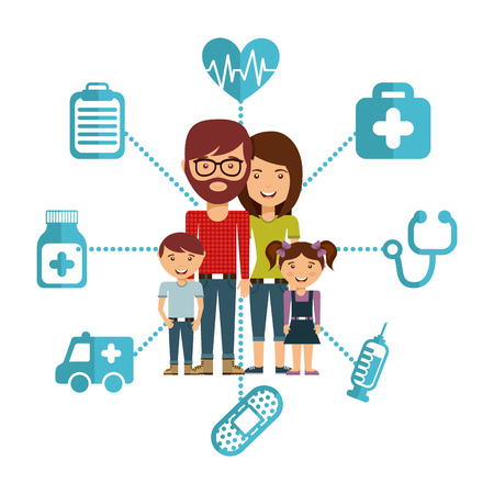 family man: family concept design, vector illustration