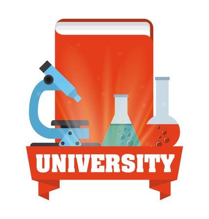 clinical research: scientific laboratory design, vector illustration