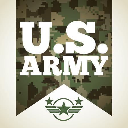 us army: military emblem design, vector illustration