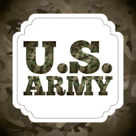 silhouette soldat: la conception de l'emblème militaire, illustration vectorielle