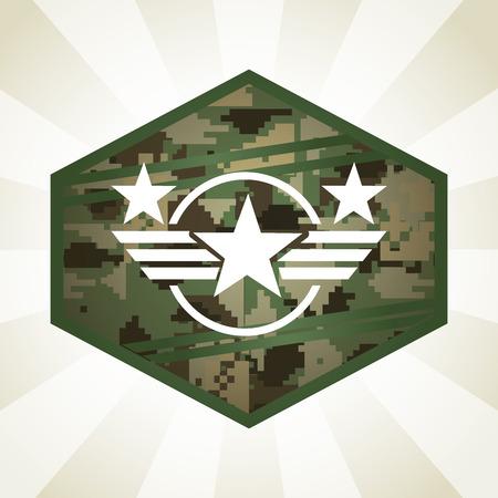 military emblem design, vector illustration