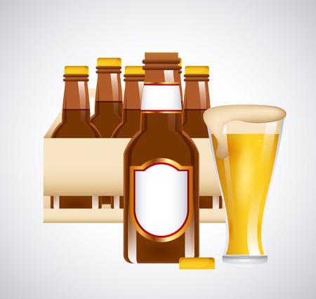 cold beer design, vector illustration  Vector