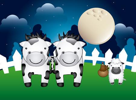 farm animals design, vector illustration   Vector