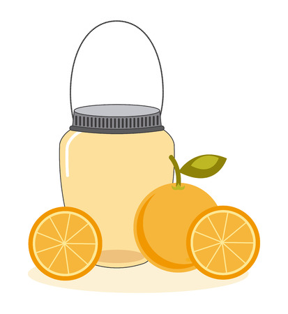 mason: fruit mason jar design, vector illustration