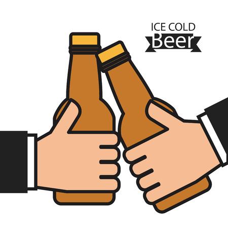 beer drinking: cold beer design, vector illustration