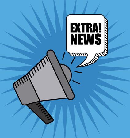 extra: extra news design, vector illustration Illustration