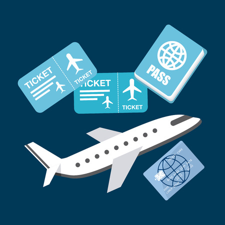 airplane ticket: airplane  travel design, vector illustration