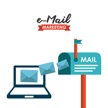 mail icons: mail concept design, vector illustration