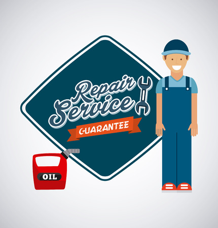 service station design, vector illustration