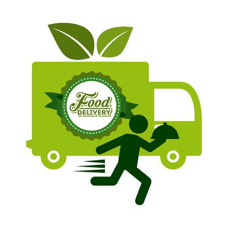 Projekt dostawy żywności, ilustracji wektorowych Ilustracja