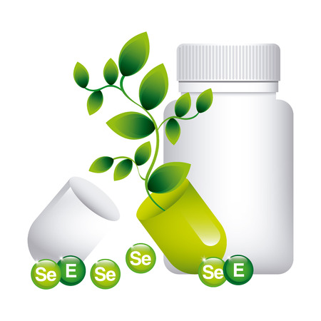supplements: vitamins and supplements design, vector illustration