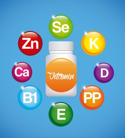 supplements: vitamins and supplements design, vector illustration   Illustration