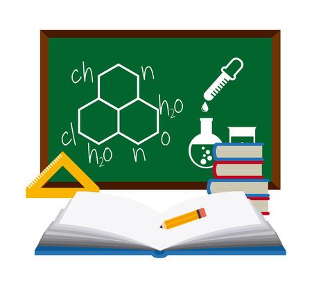 clinical laboratory: scientific laboratory design, vector illustration