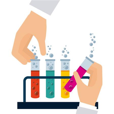 clinical research: scientific laboratory design, vector illustration  Illustration