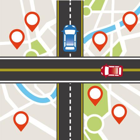 tar paper: road traffic design, vector illustration