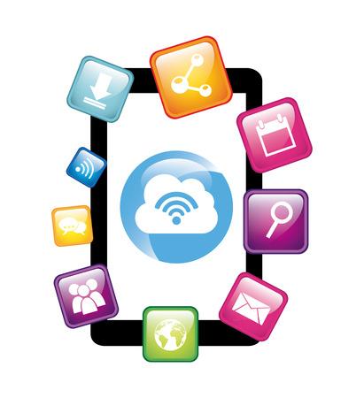 searh: social media design, vector illustration