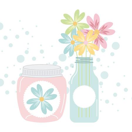 mason: jar mason design, vector illustration