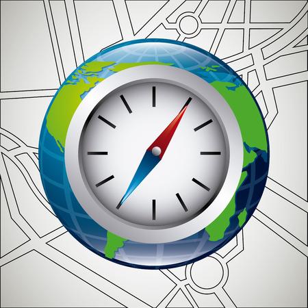 gps device: gps concept design, vector illustration