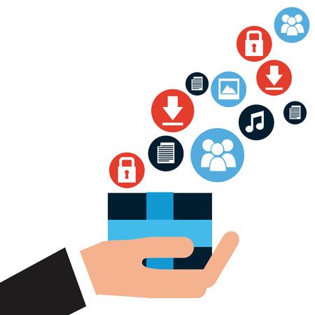 commerce: electronic commerce design, vector illustration   Illustration