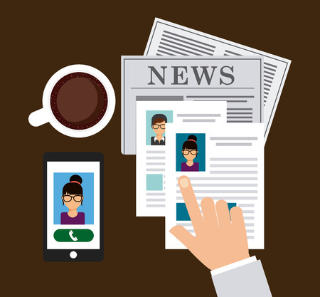 employe: newspaper concept design, vector illustration