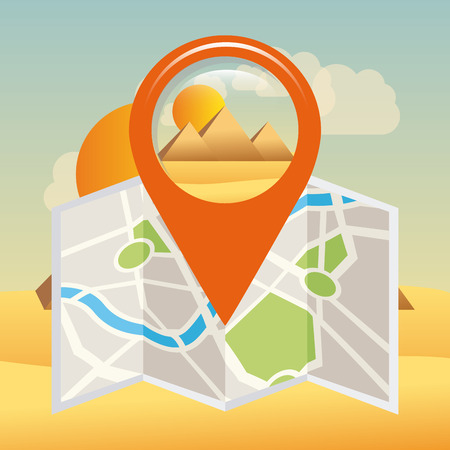 gps tech design, vector illustration    Vector