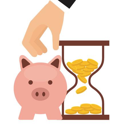 banco dinero: diseño de concepto de dinero, ilustración vectorial Vectores