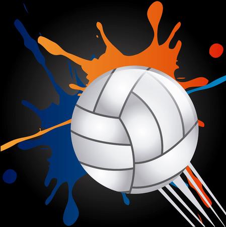 voleibol: diseño de deporte de voleibol, ilustración vectorial Vectores