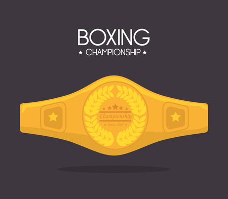 Boxing design over gray background, vector illustration. Vector