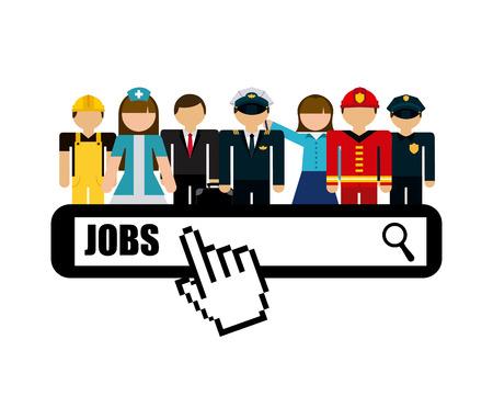 jobs: jobs concept design, vector illustration