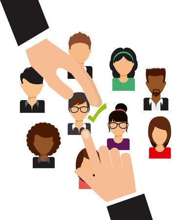 list of successful candidates: jobs concept design, vector illustration