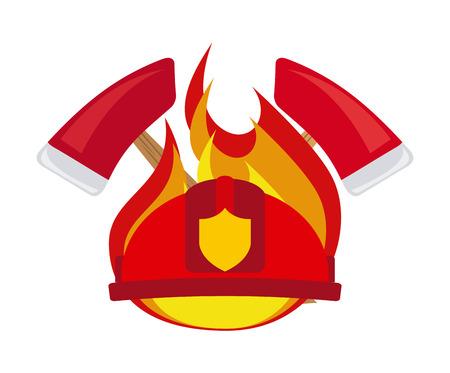 rescue dog: firefighter label design, vector illustration     Illustration