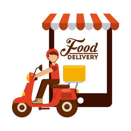 voedsel levering ontwerp Stock Illustratie