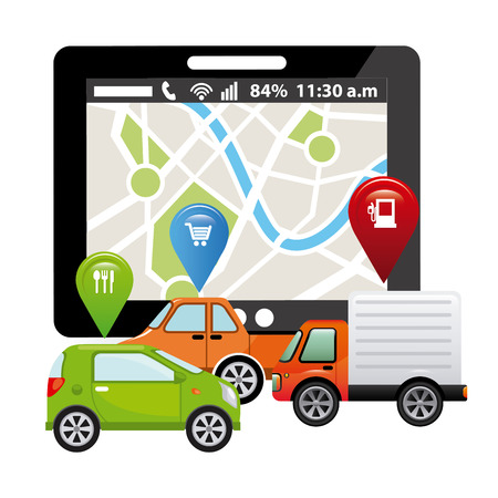 gps tech design Stock Illustratie