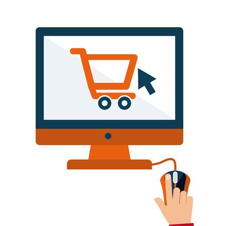 commerce: eletronic commerce Illustration