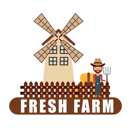 farm fresh: farm fresh design, vector illustration