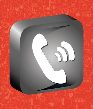 call button: call button design, vector illustration  graphic Illustration