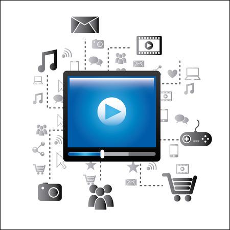 video player: video player design, vector illustration