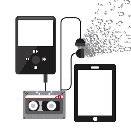 letras musicales: diseño de reproductor de música