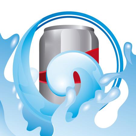 soda splash: fresh soda design    Illustration