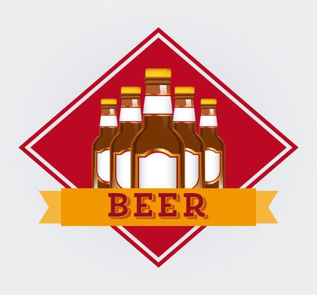 drinks on bar: cold beer design